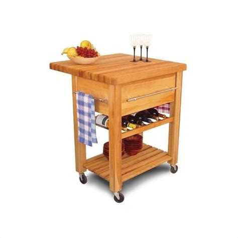 baby grand butcher block kitchen island cart with drop leaf features