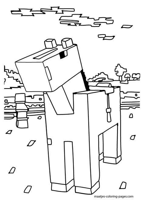 minecraft coloring pages animals coloring home