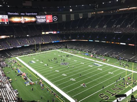 superdome sections superdome section 606 new orleans saints rateyourseats com