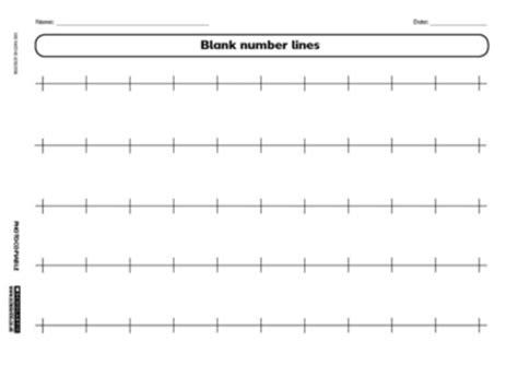 Printable Number Line Pdf