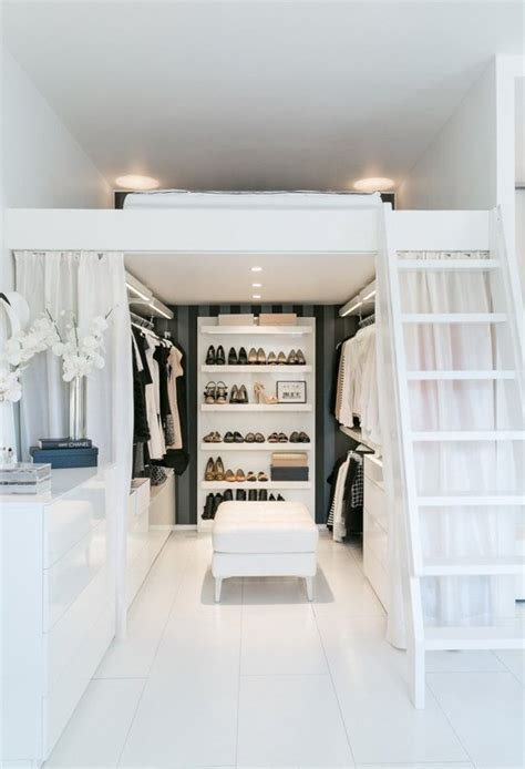 closet under bed boxed in clever loft beds and space efficient storage units