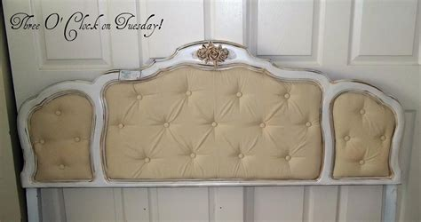 shabby chic tufted headboard three o clock on tuesday sold beautiful shabby chic full