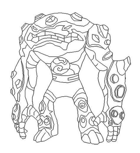 Gravattack Change Ben Teen Coloring Page Kids Coloring Ben 10 Printable Rath Coloring Pages
