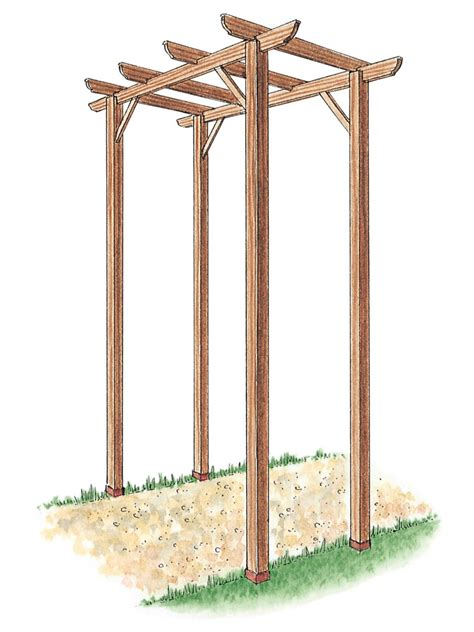 Wooden Garden Arch Kits How To Build A Freestanding Wooden Pergola Kit How Tos Diy