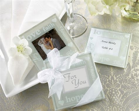 Wedding Favors Coasters by Wishes Glass Photo Coasters Favors