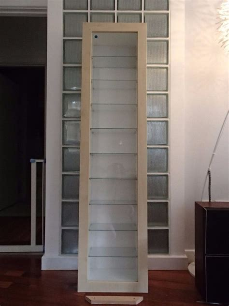 wall mounted cabinets ikea ikea bertby wall mounted glass fronted display cabinet