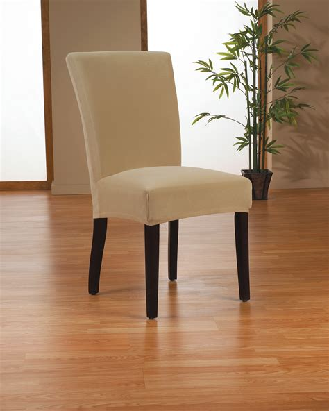 Covering Dining Chair Seats Interior Brown Fabric Sure Fit Dining Room Chair Slip Covers With Minimalist Skirt