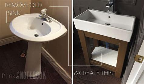 ikea hack bathroom pinterest storage lillangen corner vanity hackers