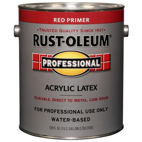 home depot paint rust rust oleum professional 1 gal flat acrylic