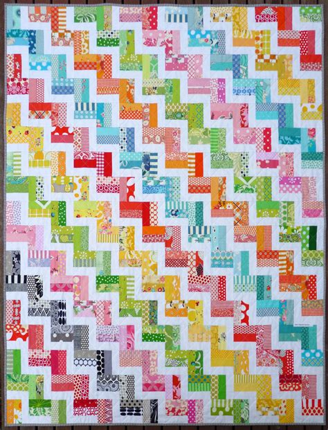 free pattern zig zag quilt zig zag rail fence quilt pattern pdf by red pepper quilts