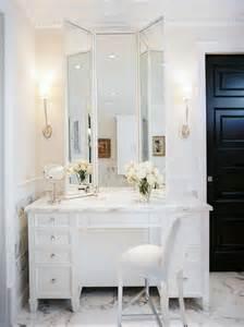 Makeup Vanity Set With Marble Top Marble Top Make Up Vanity Traditional Bathroom