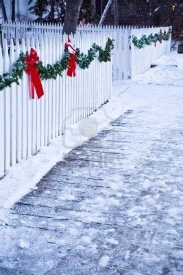 images of christmas garland on a fences 745 best images about white picket fence on
