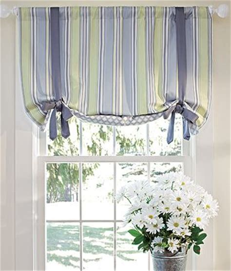 sweetwater stripe lined tie up valance kitchen decor