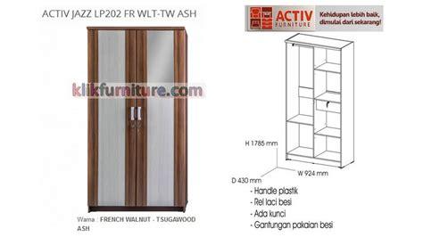 Lemari Pakaian Activ activ jazz lp202 fr lemari 2 pintu cermin