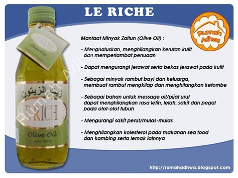 Minyak Zaitun Olive Le Riche Herbal Berkhasiat healty
