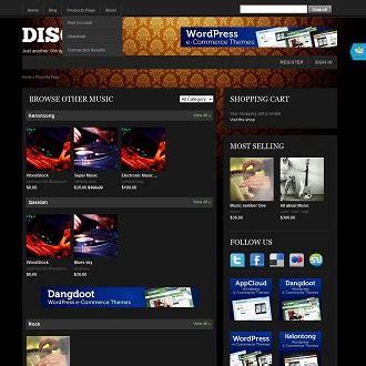 free wordpress themes music store disco music store wordpress theme