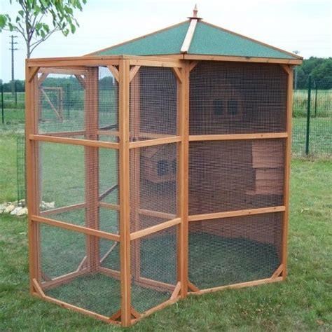 mon abri de jardin 2340 voli 232 re hexagonale en bois avec sas pour 6 224 10 oiseaux