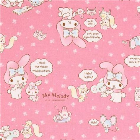 Pink My Melody Bunny Tea Plush Sanrio Oxford Fabric Iphone modes