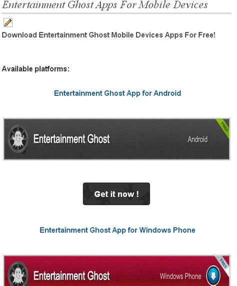 ghost apps for android new entertainment ghost apps for android and windows phone new app page entertainment ghost