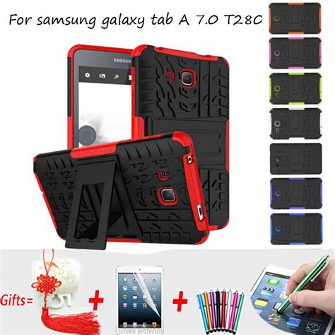 Softcase Armor Samsung Tab A 7 T280 T285 Casing Cover Silicone silicon for samsung galaxy tab a 7 cover hybrid armor kickstand cover for samsung
