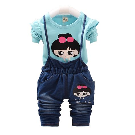 Overal Set 2015 baby clothing sets character autumn two overall set 0 4 year