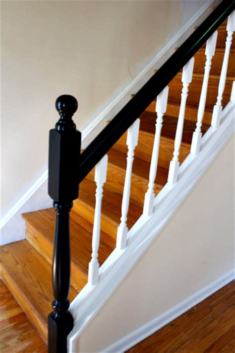 oak banister makeover how to update railings and spindles on stairs
