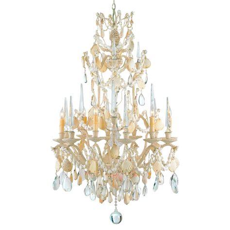 Seashell Chandelier Lighting seashell 6 light baroque 2 tier chandelier kathy kuo home