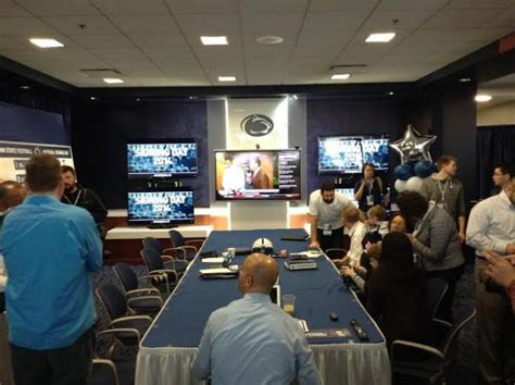 football war room state college pa penn state football looks inside penn state s signing day war room