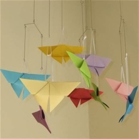 Origami Butterfly Mobile - rainbow origami butterfly mobile aftcra