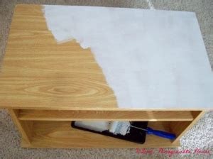 Painting A Laminate Desk by How To Paint Laminate Furniture Aka Sauder Or Bush Etc