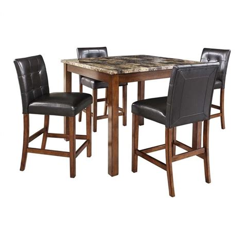 Kmart Dining Room Sets by 5 Piece Faux Marble Top Counter Height Dining Set Da7241
