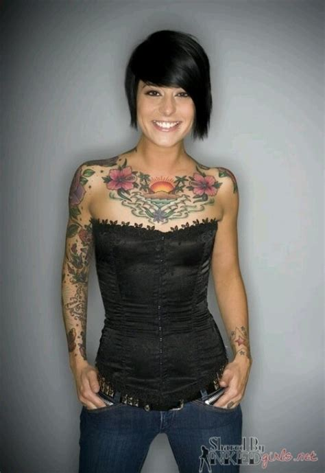 chest tattoo model sunrise sunset tattoos pinterest tattooed girls