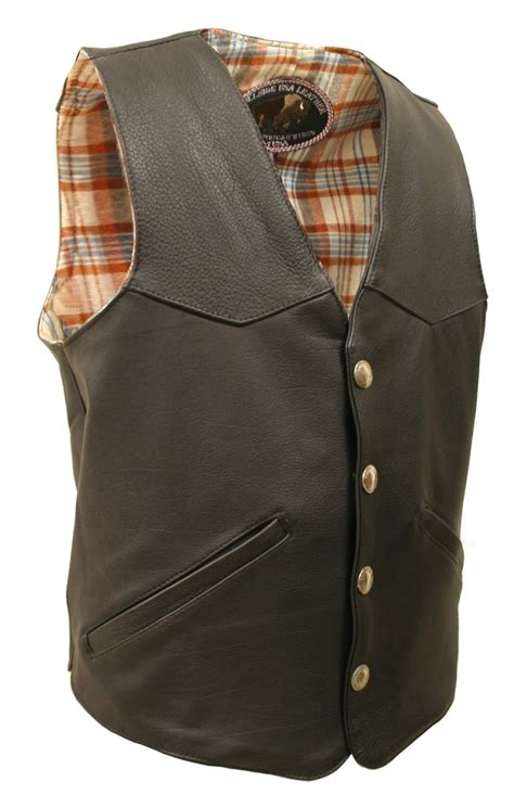 leather vest s style bison leather vest