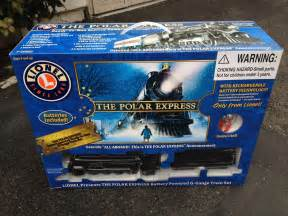 The polar express lionel g gauge scale battery train under the