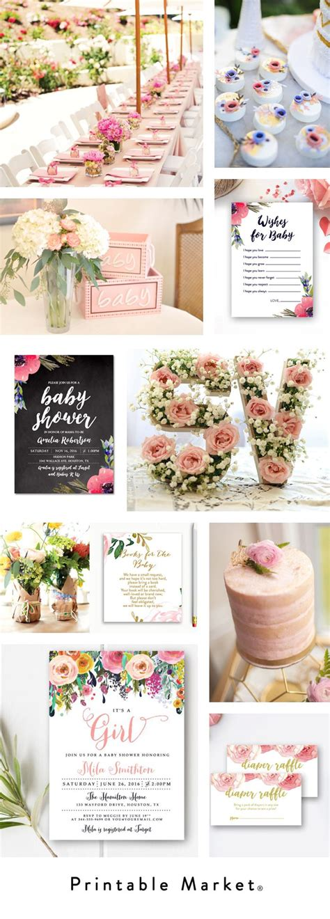Floral Themed Baby Shower by Best 25 Floral Baby Shower Ideas On