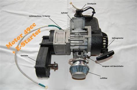 Modell Motorrad Mit Benzinmotor by 50ccm 2 Takt Motor Mit E Starter Kinderquad Motor 49cc
