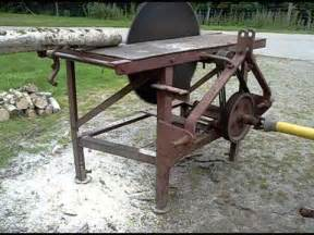 circular saw bench for sale tractor pto driven circular saw bench being driven by grey