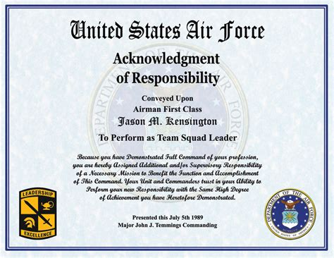 Air Certificate Of Appreciation Template by Air Award Certificate Template Gallery Certificate