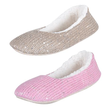 slipper material pink knitted ballet ballerina sequin slippers with