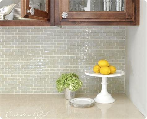 kitchen backsplash light green glass subway tile