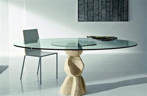 esszimmertisch und stall sets tavolo da pranzo in cristallo arredo idee
