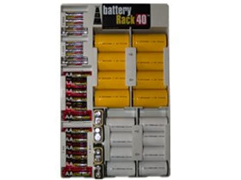 battery rack organizer for 40 batteries with