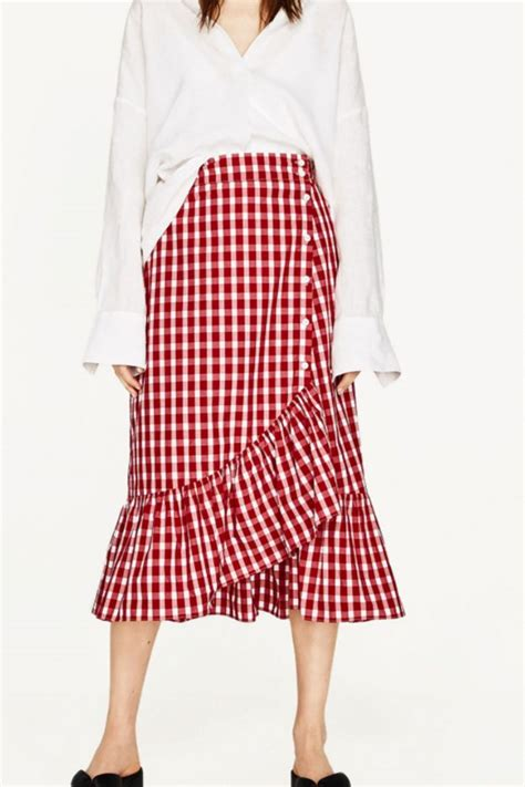 Mischa Gingham Lifestyle Magazine by The 163 26 Zara Gingham It Skirt Of The Summer Is Now Back