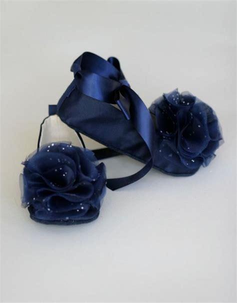 navy satin flat shoes navy satin baby wedding shoe toddler ballet slipper