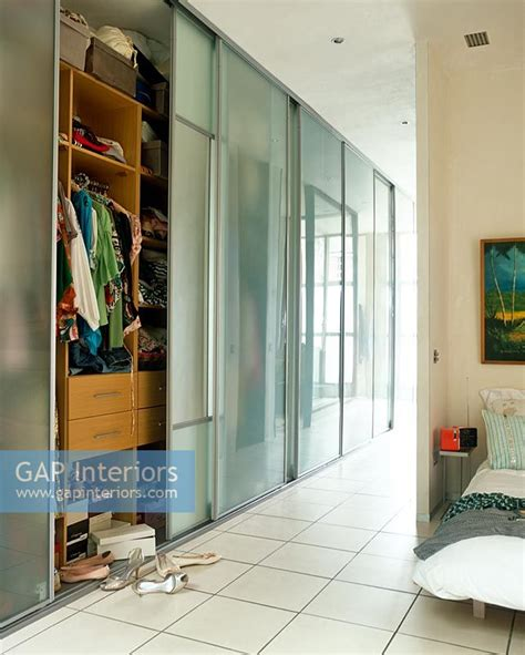 Glass Fronted Wardrobes - gap interiors glass fronted wardrobes image no