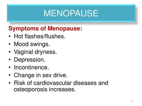 hot flashes mood swings depression ppt physiological changes during puberty menopause