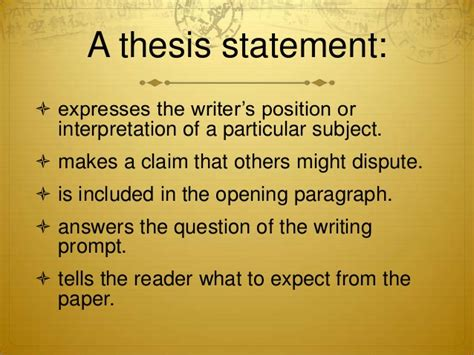 introduction  thesis statements high school