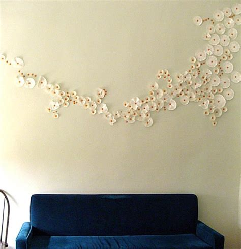 diy cupcake wrapper and thumbtack wall in living room