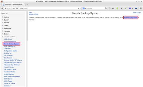 configure ubuntu mail server 14 04 setup backup server using bacula and webmin on ubuntu 14