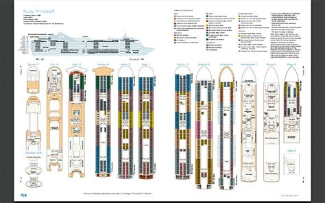 Crown Princess Floor Plan by Deck Layout Ruby Princess Aussie Cruising